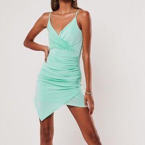 Mini silky strappy dress